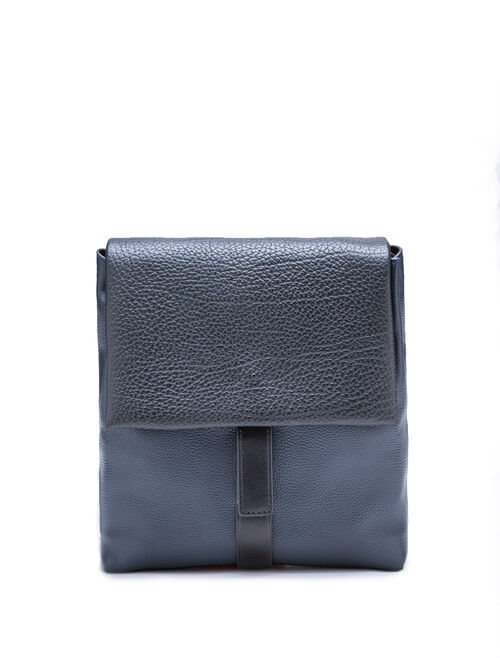 CALVIN KLEIN PEBBLE LEATHER SLATED CROSSBODY BAG