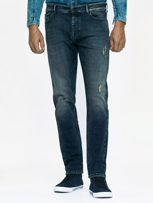 CALVIN KLEIN RODEO BLUE WASH TAPER JEANS