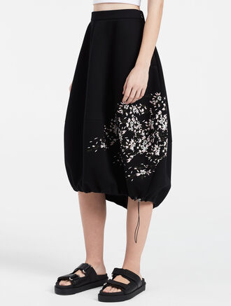 CALVIN KLEIN sculpted cherry blossom cocoon skirt