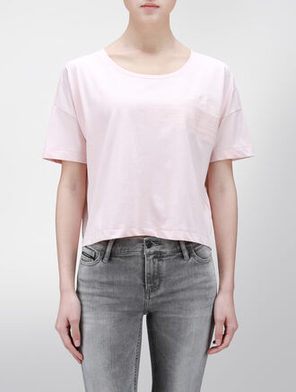 CALVIN KLEIN FASHION CROP TEE