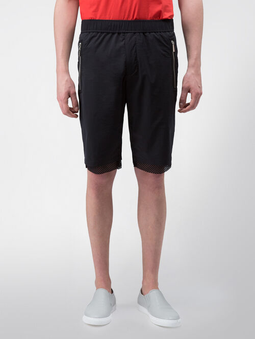 CALVIN KLEIN REFINED POLY NYLON SHORTS WITH MESH TRIM( PATRIC SPORT FIT )