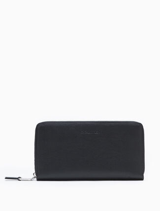 CALVIN KLEIN LEATHER ZIP-AROUND WALLET