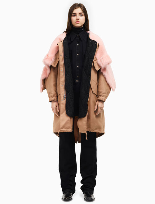 CALVIN KLEIN oversized quilt lined parka