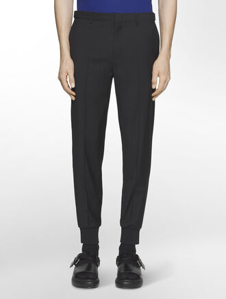CALVIN KLEIN REFINED WOOL CASHMERE PANTS WITH BUCKLE( PHILIP FIT )