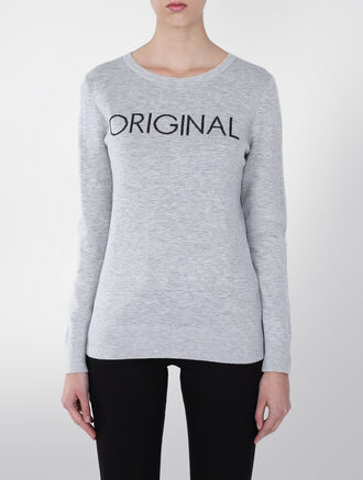 CALVIN KLEIN VISCOSE WOOL CREW NECK SWEATER