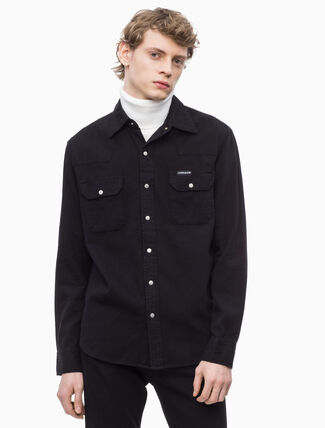 CALVIN KLEIN WESTERN LONG SLEEVE SHIRT