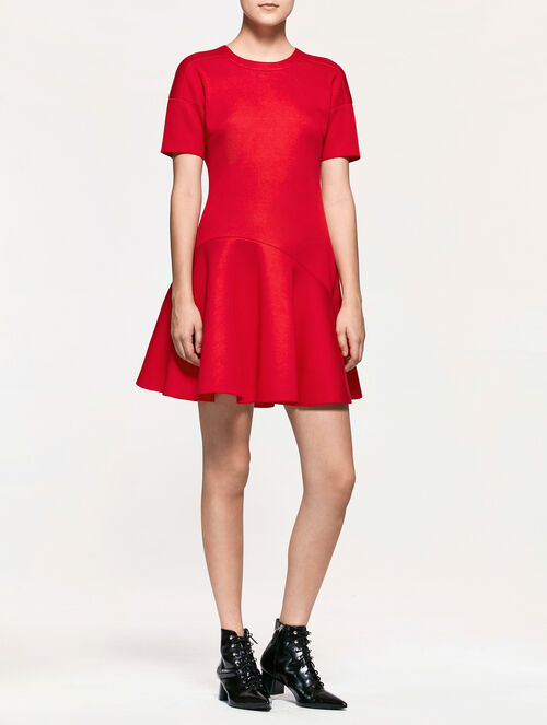 CALVIN KLEIN MODAL FLARED SHORT SLEEVE DRESS