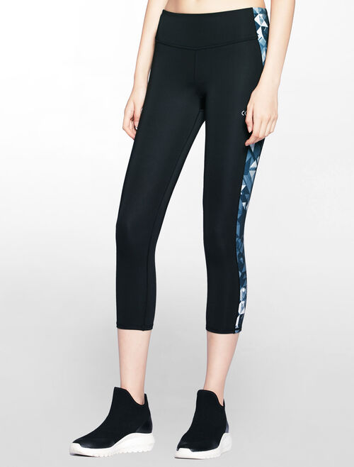 CALVIN KLEIN CROP LENGTH LEGGING WITH SIDE PANELS