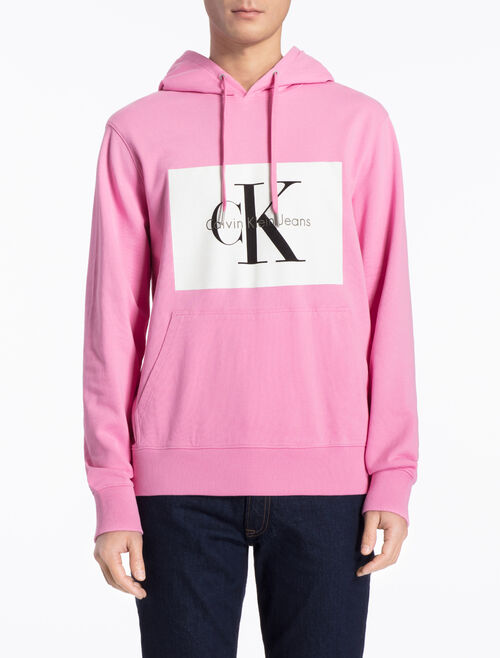 CALVIN KLEIN LOGO HOODED SWEATSHIRT IN REGULAR FIT