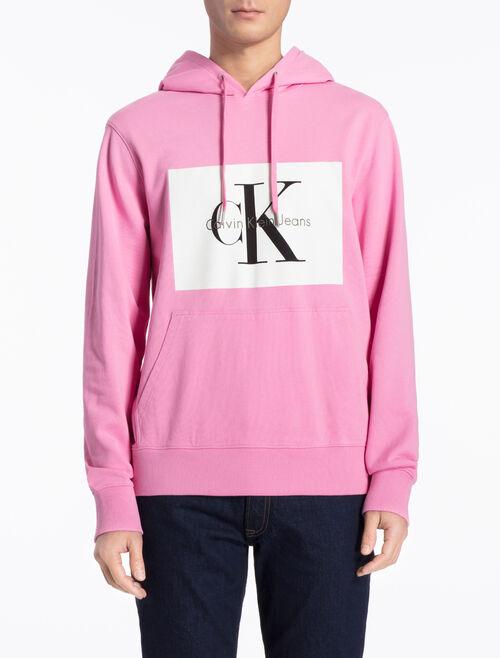CALVIN KLEIN レギュラーフィット フード付きロゴスウェットシャツ