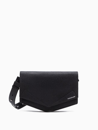 CALVIN KLEIN LARGE CROSSBODY SADDLE BAG