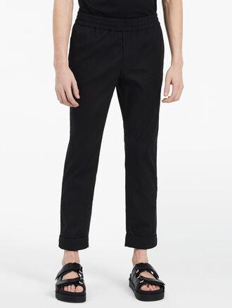 CALVIN KLEIN matte pique cropped pants