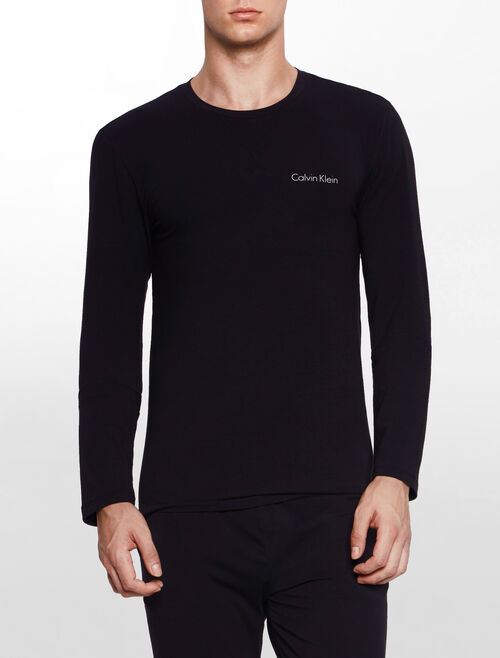 CALVIN KLEIN CUSTOMIZED STRETCH LOUNGEWEAR 長袖圓領上衣
