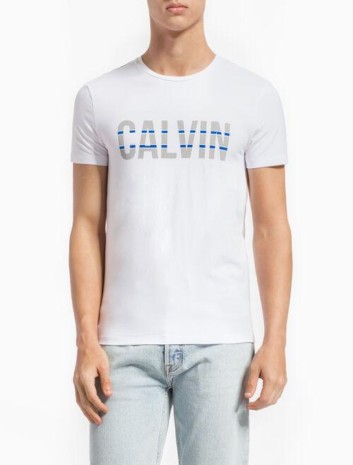 CALVIN KLEIN CALVIN ロゴ スリムフィット T シャツ