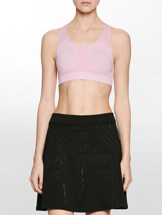 CALVIN KLEIN SEAMLESS MEDIUM IMPACT BRA TOP WITH REMOVABLE PADS