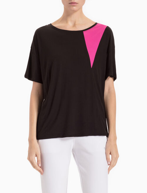 CALVIN KLEIN POP COLOR BLOCK SHORT-SLEEVE TEE