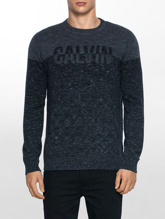 CALVIN KLEIN STRATER 1  LOGO CREW NECK SWEATER