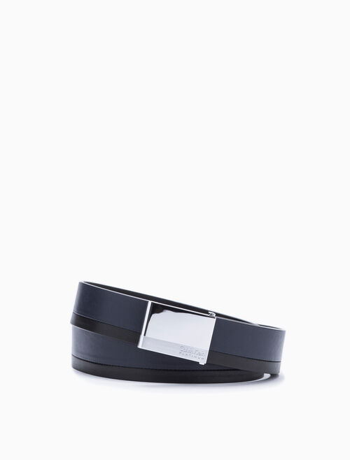 CALVIN KLEIN 2TONE METAL PLACKET BELT