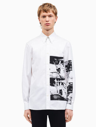 CALVIN KLEIN medium-fit ambulance disaster shirt