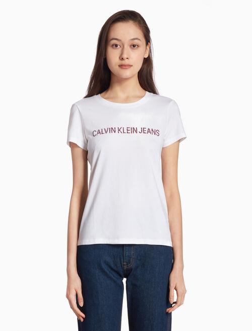 CALVIN KLEIN Institution フラワーロゴ T シャツ