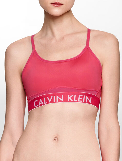 CALVIN KLEIN ADJUSTABLE STRAPS LOW IMPACT BRA TOP