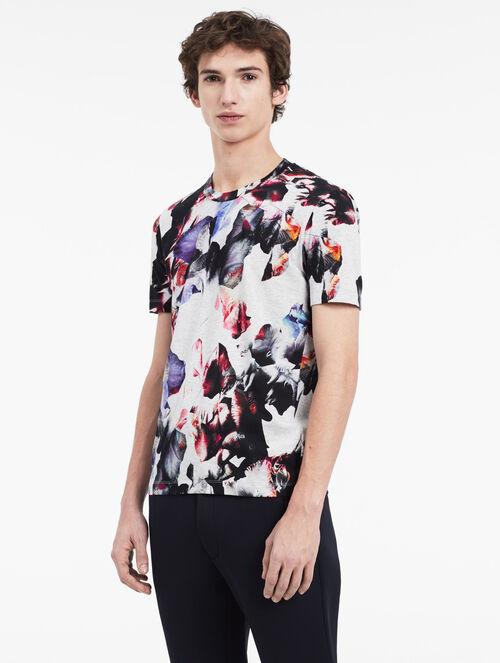 CALVIN KLEIN platinum hyper floral t-shirt