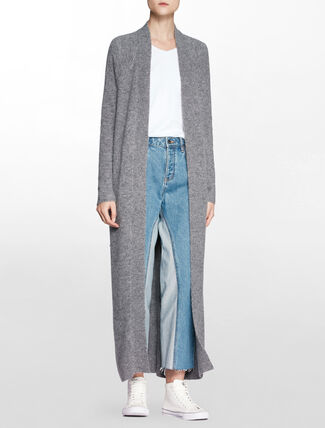 CALVIN KLEIN WOOL ALPACA LONG CARDIGAN