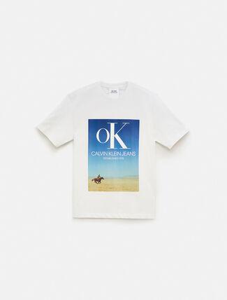 CALVIN KLEIN EST 1978 LANDSCAPE OK LOGO 크루넥 티셔츠