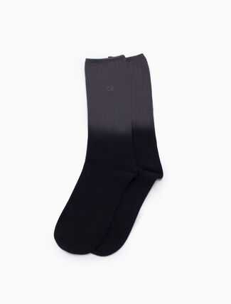 CALVIN KLEIN COTTON BLEND LOGO DRESS SOCKS