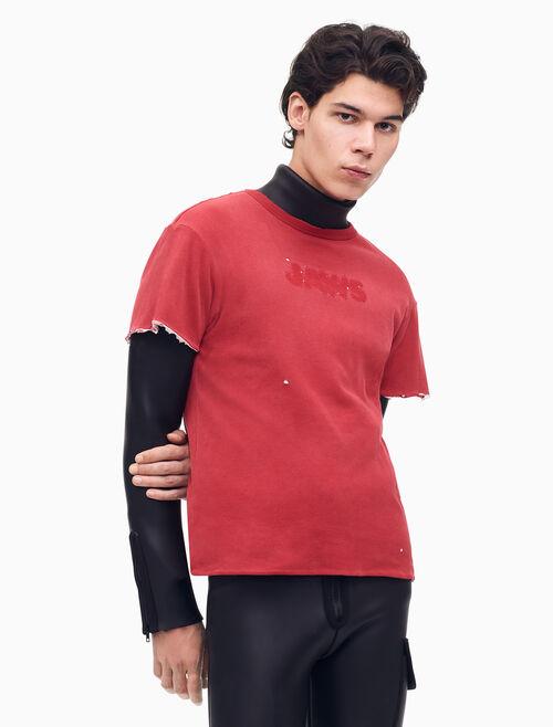 CALVIN KLEIN JAWS 리버시블 크루넥 티셔츠