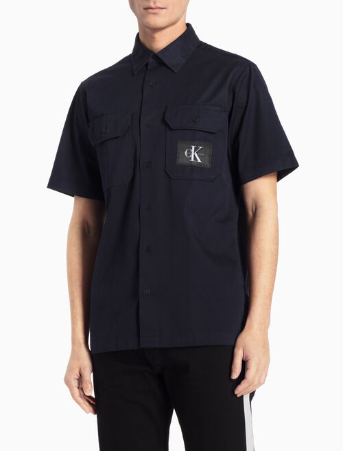 CALVIN KLEIN WESKEN UTILITY SHIRT IN REGULAR FIT