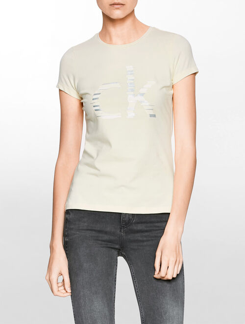CALVIN KLEIN LOGO SHORT SLEEVE TOP