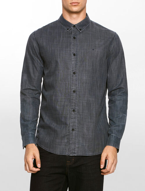 CALVIN KLEIN BUTTON DOWN SLIM SHIRT
