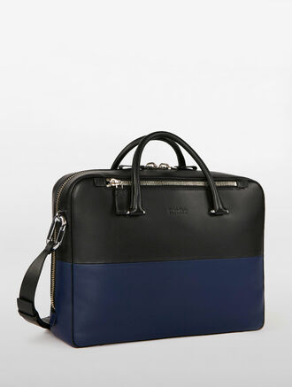 CALVIN KLEIN PLATINUM ENGINEERED COLORBLOCK BRIEFCASE
