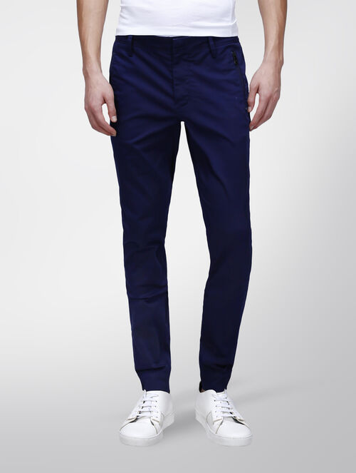 CALVIN KLEIN EVENING BLUE TWILL JOGGING PANTS