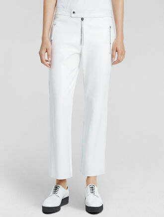 CALVIN KLEIN PLONGE LEATHER CROPPED PANT