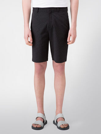 CALVIN KLEIN DISCHARGE PRINT COTTON SHORTS( PATRIC SPORT FIT )