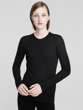 CALVIN KLEIN CASHMERE CLASSIC LONG TEE