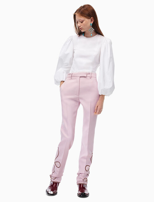 CALVIN KLEIN cropped parade pants