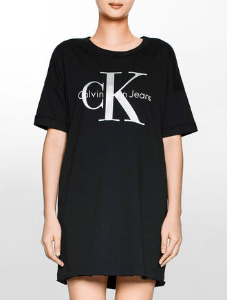CALVIN KLEIN Logo Dress