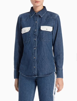 CALVIN KLEIN WEST LEAN DENIM SHIRT