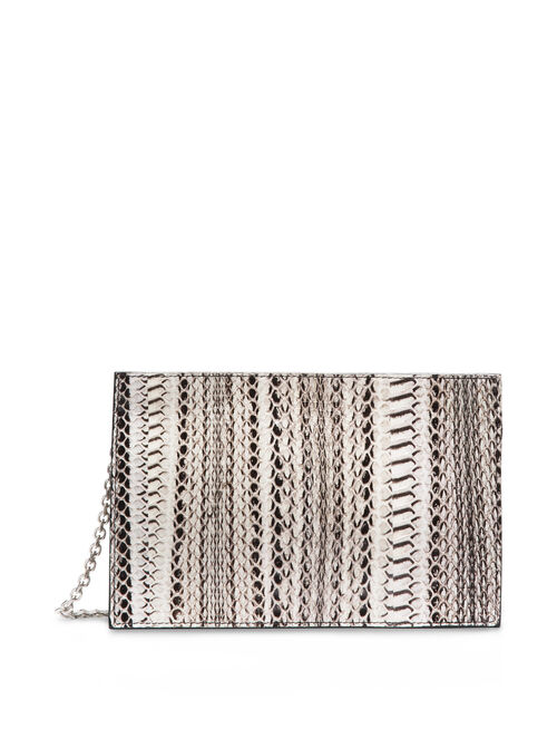 CALVIN KLEIN WATER SNAKE ZIP CLUTCH