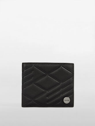 CALVIN KLEIN CITY GRID AMPLIFIED HORIZONTAL TWO FOLD WALLET