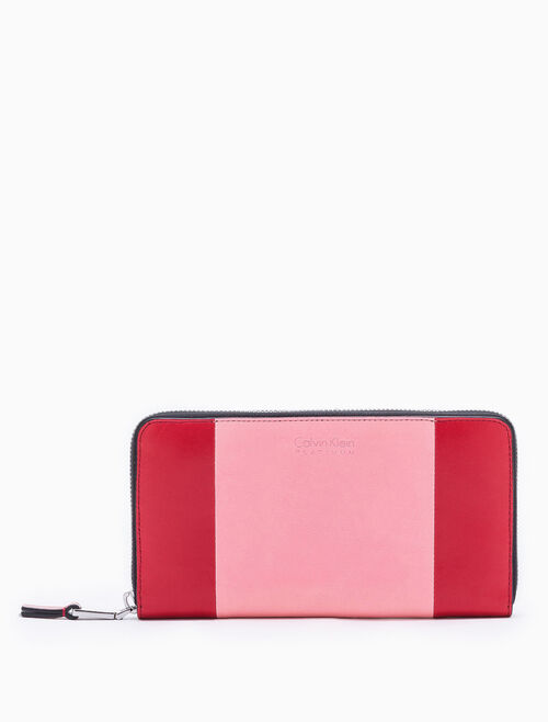 CALVIN KLEIN 2-TONED LONG CONTINENTAL WALLET