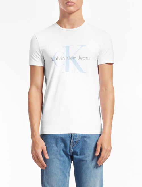 CALVIN KLEIN MONOGRAM LOGO TEE IN SLIM FIT