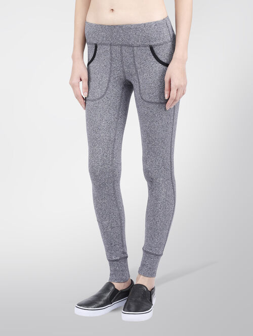 CALVIN KLEIN FULL LENGTH LEGGING WITH FRONT POCKETS & RIB CUFFS