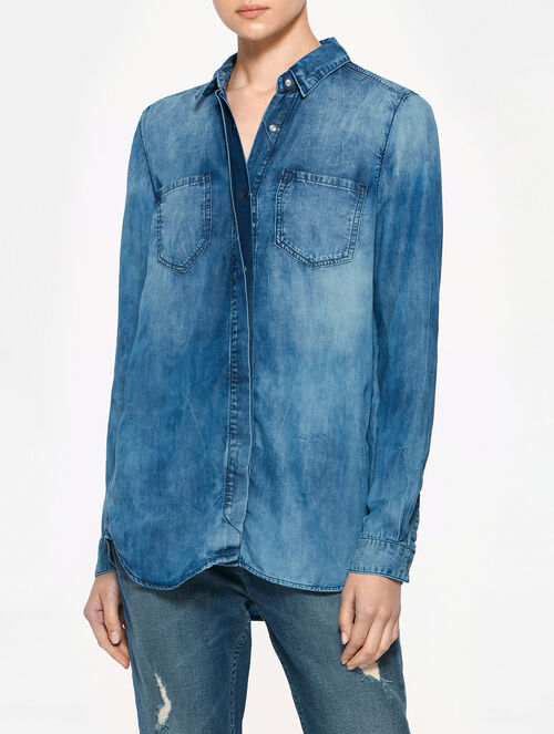 CALVIN KLEIN 2 POCKET BOYFRIEND SHIRT