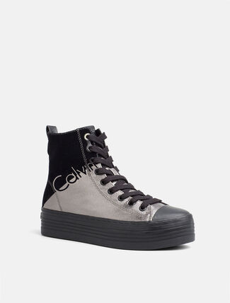 CALVIN KLEIN METALLIC CANVAS UPPER