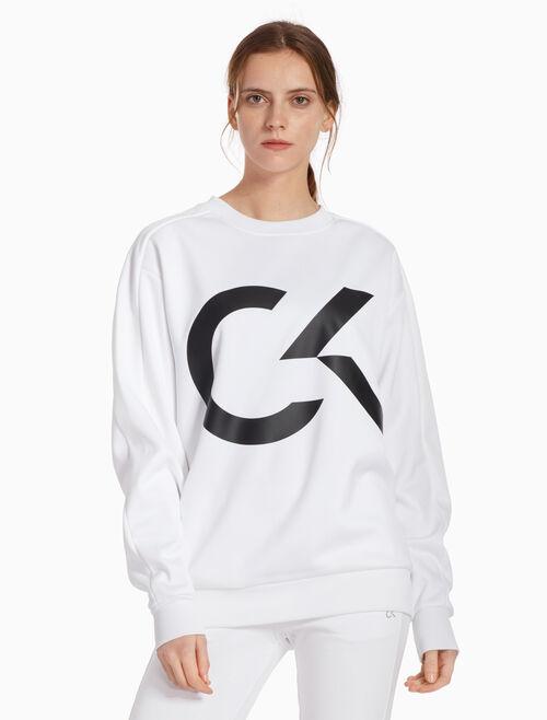 CALVIN KLEIN BIG ICON 풀오버 스웨트셔츠