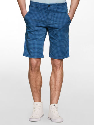 CALVIN KLEIN PRINTED CHECKS SHORTS